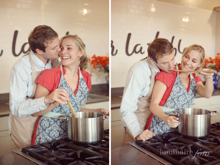 naples kitchen cooking engagement photo session